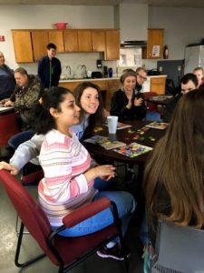Students play bingo at ACT